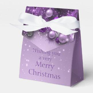 Christmas Holiday Ornaments - Purples Favor Box