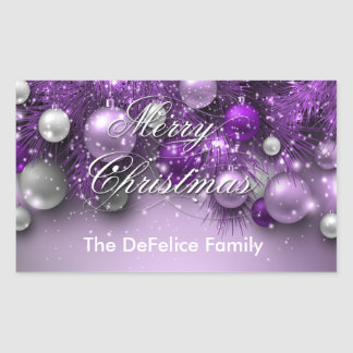 Christmas Holiday Ornaments - Purples Sticker