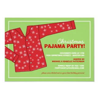 """Christmas Holiday Pajama Party Invitation 5"""" X 7"""" Invitation Card"""