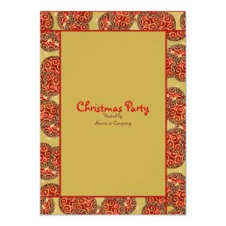 "Christmas holiday party festive tree ornaments 5"" x 7"" invitation card"