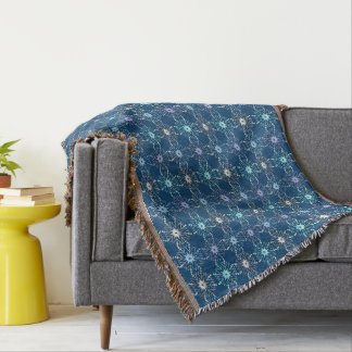 christmas holiday pattern throw blanket