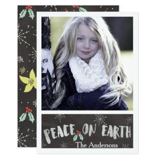 Christmas Holiday - Peace On Earth PHOTO Card