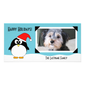Christmas Holiday Penguin Photo Card