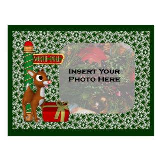 Christmas Holiday Photo Postcard