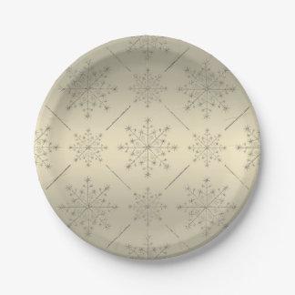 Christmas Holiday Plate - Snowflake Glitter