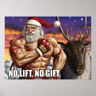 Christmas Holiday Poster - Gym Motivation