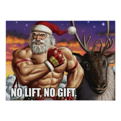 Christmas Holiday Poster - Gym Motivation