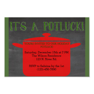 Christmas Holiday Potluck Card