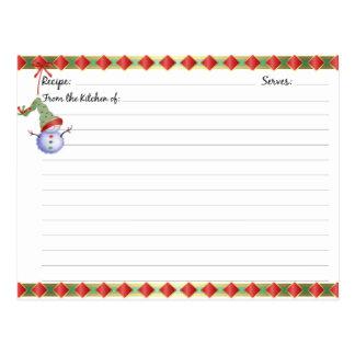 Christmas Holiday Recipe Cards