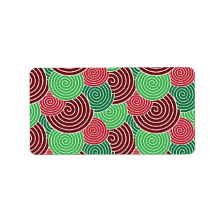 Christmas Holiday Red Green Spiral Pattern