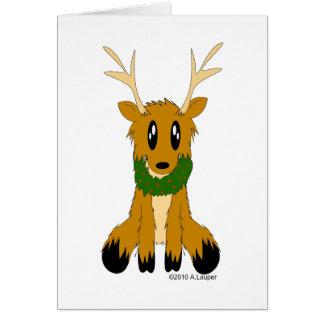 Christmas Holiday Reindeer Greeting Card