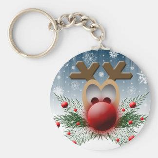 Christmas Holiday Reindeer Keychain