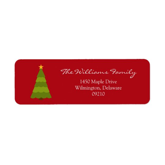 Christmas Holiday Return Address Labels