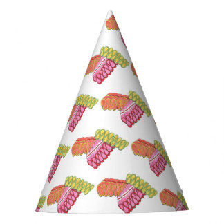 Christmas Holiday Ribbon Candy Xmas Foodie Print Party Hat