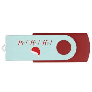 """Christmas Holiday Santa """"Ho Ho Ho"""" Xmas Holidays USB Flash Drive"""