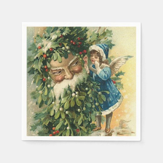 Christmas Holiday Santa Vintage paper napkins