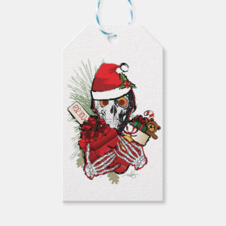 Christmas Holiday Skull Pack Of Gift Tags