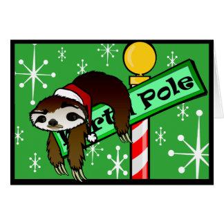 CHRISTMAS HOLIDAY SLOTH GREETING CARD