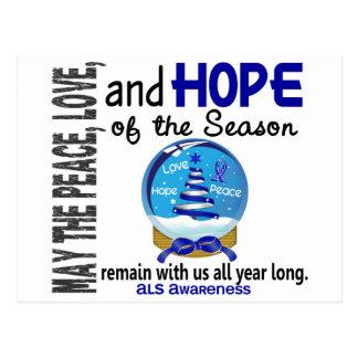 Christmas Holiday Snow Globe 1 ALS Postcard