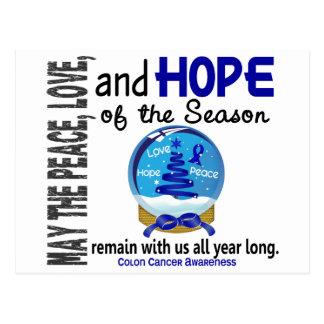 Christmas Holiday Snow Globe 1 Colon Cancer Postcard