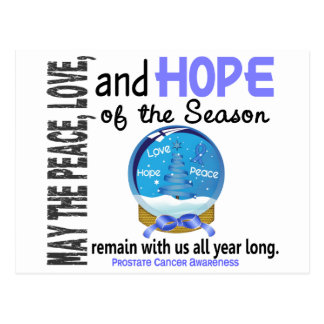 Christmas Holiday Snow Globe 1 Prostate Cancer Postcard