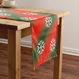 Christmas Holiday Snowflake Short Table Runner