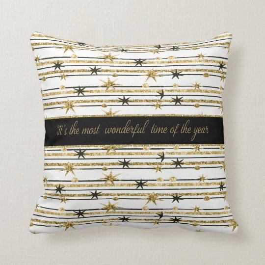 Christmas Holiday - SnowFlakes & Garland Throw Pillow