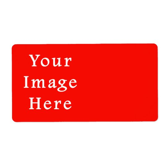 Christmas Holiday Spirit Red Background Colour Shipping Label