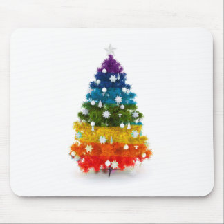 christmas holiday tree colors happy joy mouse pad