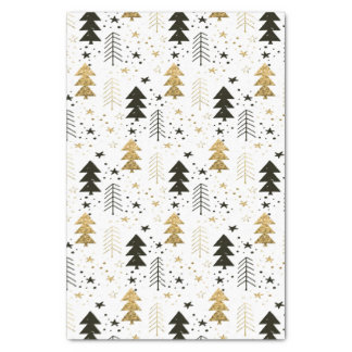 Christmas Holiday - Trees and Snowflakes Tissue Paper