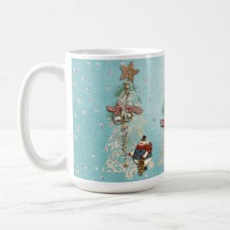 Christmas Holiday - Trees & Snowmen Coffee Mug 2