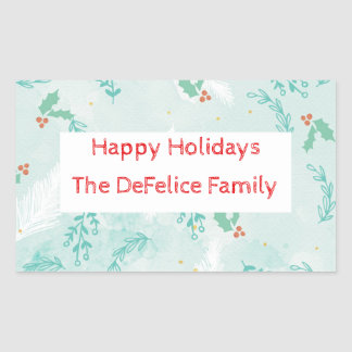 Christmas Holiday - Watercolor Xmas Floral2 Sticker