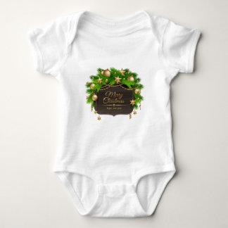 Christmas, Holidays, Decorations, Celebration Baby Bodysuit