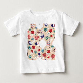 Christmas, holidays, tree decorations, pattern baby T-Shirt