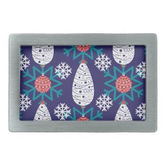 Christmas, holidays, tree decorations, pattern belt buckle