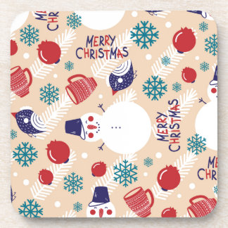 Christmas, holidays, tree decorations, pattern coaster