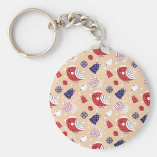 Christmas, holidays, tree decorations, pattern keychain