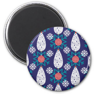 Christmas, holidays, tree decorations, pattern magnet