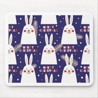 Christmas, holidays, tree decorations, pattern mouse pad
