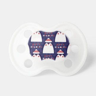 Christmas, holidays, tree decorations, pattern pacifier