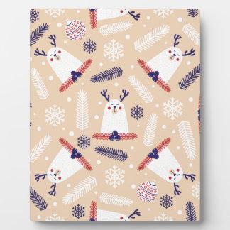 Christmas, holidays, tree decorations, pattern plaque