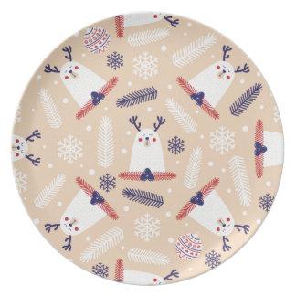Christmas, holidays, tree decorations, pattern plate