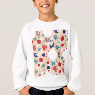 Christmas, holidays, tree decorations, pattern sweatshirt