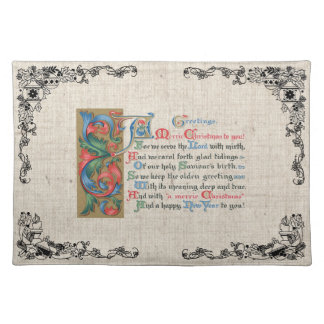 Christmas Holidays Vintage Old Fashioned Placemat