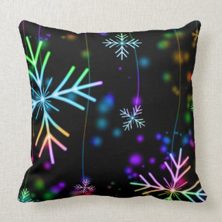 Christmas Holidays Winter Snowflakes Throw Pillow