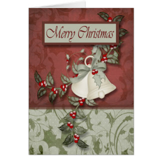 Christmas Holly and Bells Card