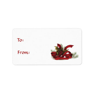 Christmas Holly and Pines Gift Tag