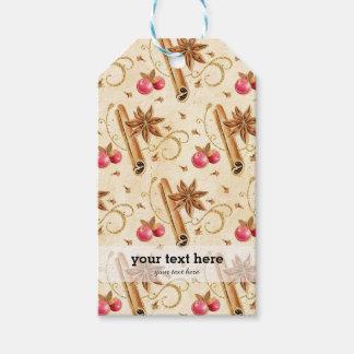 Christmas holly berries cinnamon gift tags