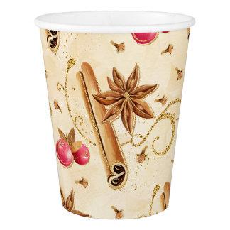 Christmas holly berries cinnamon paper cup