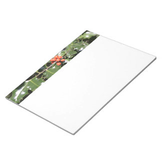 Christmas Holly Berries Notepad
